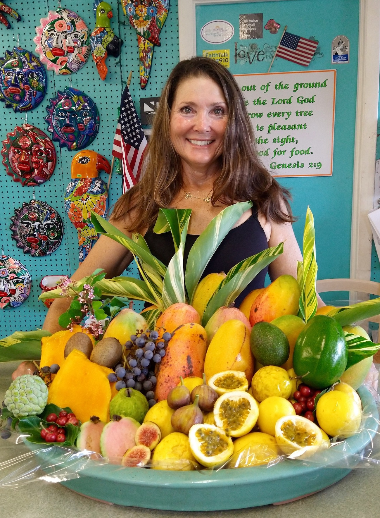 Jené of Jené's Tropicals shows off her collection of exotic fruit from her own garden.